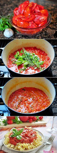 30-Minute Fresh Tomato Marinara Sauce