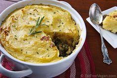 Hearty Lentil and Mushroom Shepherd's Pie from Nava Atlas' Vegan Holiday Kitchen!