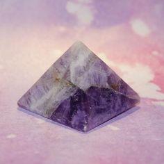 Chevron Amethyst Pyramid