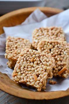 peanut butter pretzel rice crispy treats