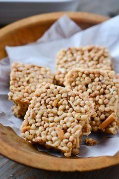 peanut butter pretzel rice crispy treats
