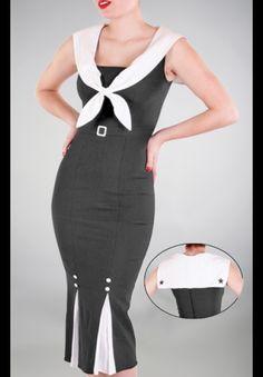 Black Sexy Sailor Dress Plus Size