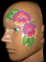 flowers face paint