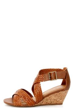 The City Classified Evelyn Tan Strappy Braided Wedge Sandals are delightfully neutral in tan vegan leather, with thick braided straps on a cork-wrapped wedge heel. Summer Wedges, Low Wedges, Summer Shoes, Summer Sandals, Ankle Strap Heels, Wedge Heels, Ankle Straps, Cute Shoes, Me Too Shoes
