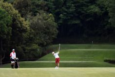 Pei-Ying Tsai Photos Photos - Pei-Ying Tsai of Taiwan hits her second shot on the 14th hole during the second round of the Resorttrust Ladies at the Oakmont Golf Club on May 27, 2017 in Yamazoe, Japan. - Resorttrust Ladies - Day 2
