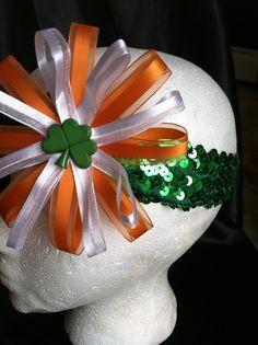 Oversized Irish infant headband via Etsy
