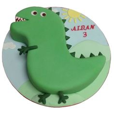 Dinosaur cake caker street london excellent image of dinosaur birthday cake Bolo George Pig, Cumple George Pig, George Pig Party, Dinosaur Birthday Cakes, 3rd Birthday Cakes, Dinosaur Party, Peppa Pig Dinosaur, Dinosaur Cakes For Boys, Birthday Ideas