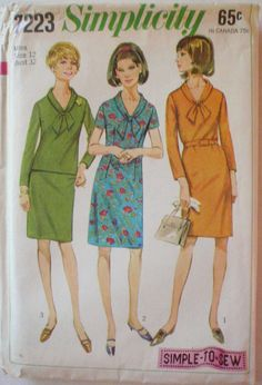 Women's Vintage Sewing Pattern  Simple to Sew One by Shelleyville, $8.00