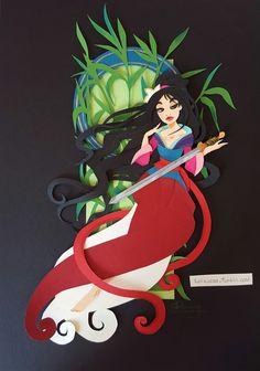 Tella-in-SA — Mulan paper art, Mucha inspired. Mulan has always...