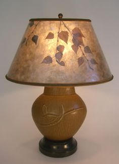 A gallery of unique table lamps and one-of-a-kind table lamp shades in many design styles, featuring fine art glass lamps and mica lamp shades.