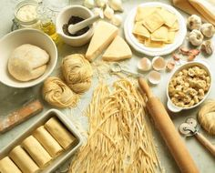 Assorted pasta and kitchen utensils - Michael Pohuski/Photolibrary/Getty Images