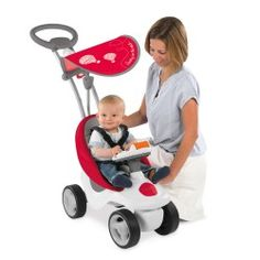 Smoby Bubble Go 2in1 Loopwagen - Rood