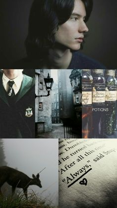 I love this collage so much 💚 Severus Snape  Slytherin pride by ClaireDobesova