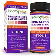Ketone Test Strips 100ct Professional Grade Ketone Strips for Use in Atkins Diet Ketogenic Diet and Paleo Diet Urinalysis Test Strips 99% Accuracy for Precise Ketone Measurement for Diabetics