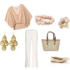 cream casual, created by samantha-knight.polyvore.com