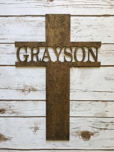 Excited to share the latest addition to my shop: Baptism gift, first communion gift, Personalized Cross - Wooden Cross - Baptisim Cross - Wooden Name Cross Catholic Baptism Gifts, Baptism Gifts For Boys, Baptism Ideas, Godchild Gift, Godparent Gifts, First Communion Decorations, Baptism Decorations, Boys First Communion, Godmother Gifts