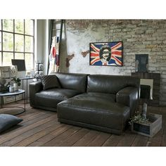 Oil leather sofa