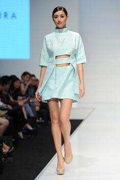 Ezzati Amira, KLFW 2014 #travelshopa #runway #fashionweek #pastels
