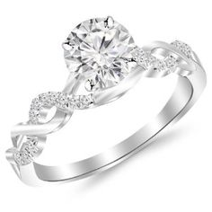 14k metal stamp with re sizable quality pave diamond engagement ring under 1000 - Wedding Rings Under 1000
