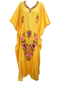 Mogul Boho Kaftan Moroccan Silk Caftan Abaya Dres Plus Size at Amazon Women's Clothing store: