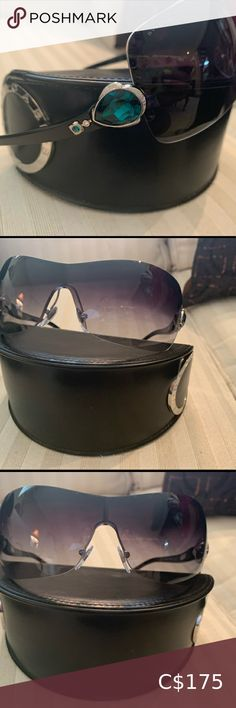 BVLGRI gem sunglasses Amazing condition 9.5/10 Fancy sunglasses Ombré shading Case included Bulgari Accessories Sunglasses Sunglasses Accessories, Sunglasses Women, Women Accessories, Burberry Tote Bag, Bvlgari Sunglasses, Versace Gold, Chanel Pearls, Tote Pattern, Black Patent Leather