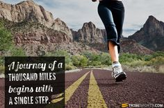 A journey of a thousand miles begins with a single step. #tribesports #jointhetribe #challengeyourself #fitness #motivation #fitspo #inspiration #quote #body #improvement