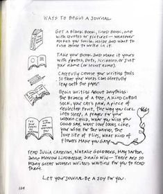 Ways To Begin A Journal - lets write out OWN quotes! (and pin them, of course!)