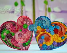 Wandkunst Quilling Kunst Quilling Papier Quilling Herz Liebe The Research Paper Idea But this is not Quilling Images, Paper Quilling Patterns, Paper Quilling Jewelry, Quilled Paper Art, Paper Quilling For Beginners, Quilling Techniques, Arte Quilling, Quilling Paper Craft, Quilling Animals