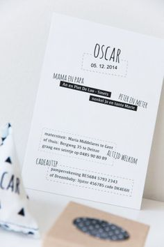 Birth Announcement / Oscar