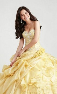 Looks like a belle dress Quince Dresses, Ball Dresses, Ball Gowns, Dresses 2013, Grad Dresses, Dresses Dresses, Homecoming Dresses, Formal Dresses, Sweet 16 Dresses