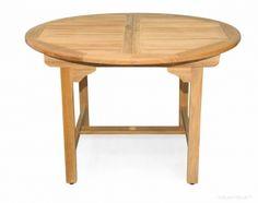 "Teak Dining Table Round Extension 48"", 16"" Leaf"