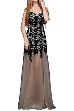 Vegeron Womens Sequin Pailette Strapless Sweetheart Neckline Evening Prom Gown -- See this great product.