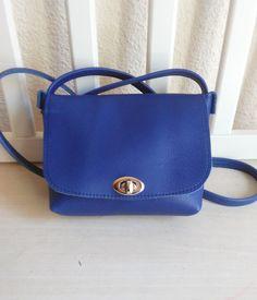 Bolso Bandolera Mujer de Cuero Color Azul - Bolso para Mujer de Cuero - Bolso de Piel tamaño pequeño de JYNzapateros en Etsy