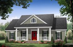 Cottage Country Traditional House Plan 59973