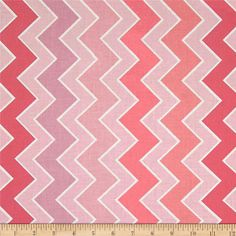 """Chevron Table Runner in """"Dolly"""" Pinks & White / Ready to Ship Chevron Table Runners, Elephant Nursery Decor, Chevron Fabric, Zig Zag Pattern, Valentine Decorations, Fabric Design, Kids Rugs, Quilts, Riley Blake"""