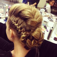 Sophisticated Braided Mohawk Hairstyle..