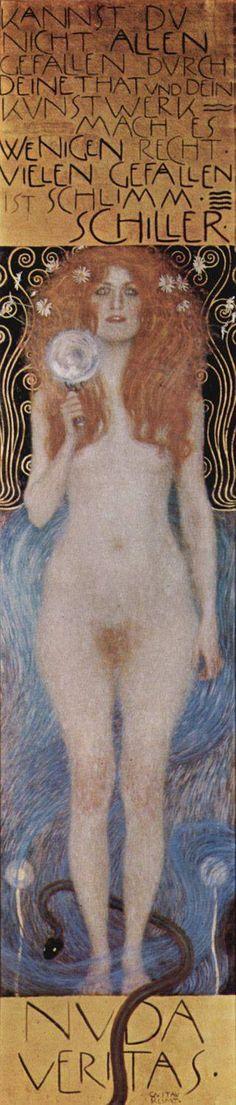 Gustav Klimt, Naked Truth, 1899 on ArtStack #gustav-klimt #art