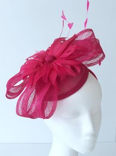 b38a3af43ff TheHeadwearBoutique on Etsy ( 40 USD)- Felicity Bright Pink Fascinator  Headband