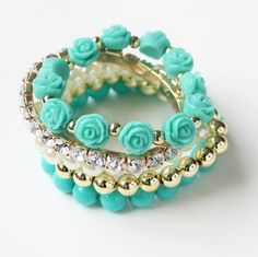 Bracelets Set of 5 - Blue