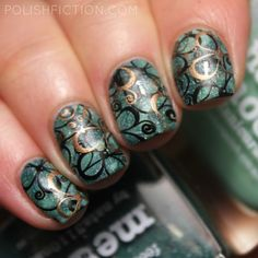 Picture Polish Meow and Honeymoon stamper marbling / smoosh manicure