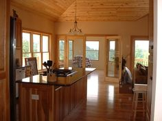 Rustic Ash Floor, Knotty Pine Ceiling