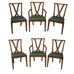 Image of Tommi Parzinger Style X Back Dining Chairs - Set of 6