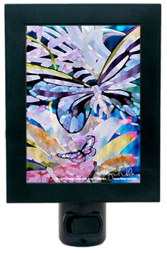 """Butterfly Watercolor Painting"" Butterfly Art Night Light   ""Butterflies are nature's angels. They remind us what a gift it is to be alive."" -Robyn Nola"