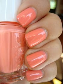 Essie Summer Cantaloupe and top it off with Seche Vite top coat it will last for a week