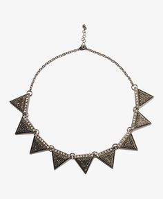Rhinestoned Triangle Necklace | FOREVER 21 - 1031557630
