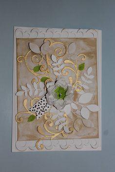 Challenge 3D flower Handmade card