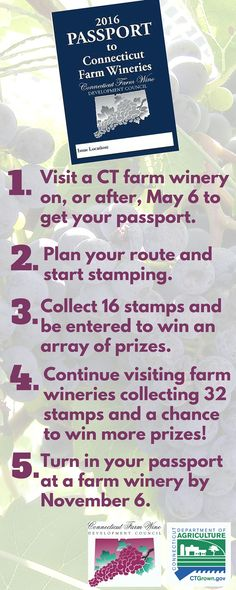 5 Easy Steps to Complete your 2016 Passport to Connecticut Farm Wineries