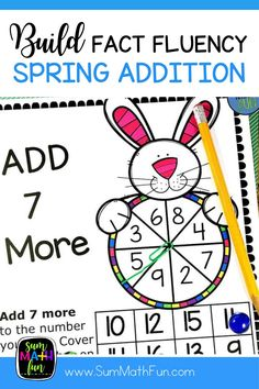 "These Spring addition games are so easy to differentiate with simple directions that you only give once for all the games. Directions are also printed on each game board so that you can send them home as ""homework"" for a fun way to review and practice addition facts. Just print, grab some counters, paper clips, and pencils and you are ready to go with 12 spring activities for rotations, centers, math workshop, and stations!"