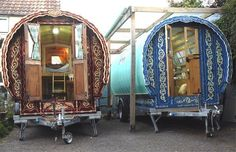 caravan interior This qualifies as a mini-house. Ever since I saw the one on The Wizard of Oz I've imagined having one and I just spent 2 hours at Greg's web site fantacising about designing the interior. LOL
