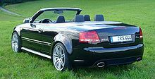 Audi B7 RS4 quattro Cabriolet in Phantom Black pearl
